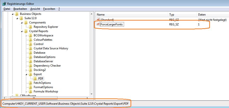 CrystalReports: PDF-Export verkleinert Schrift – GEVITAS