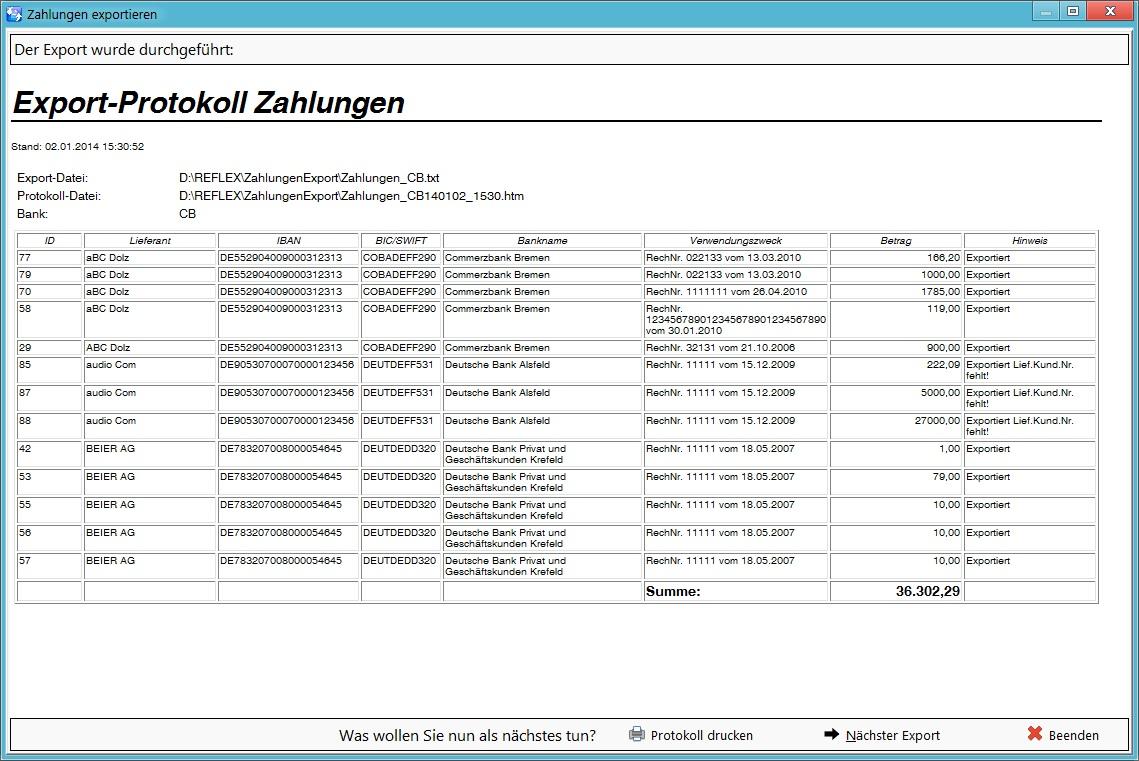Dateireflex Faktura Eingangsrechnung Exportreportjpg Gevitas