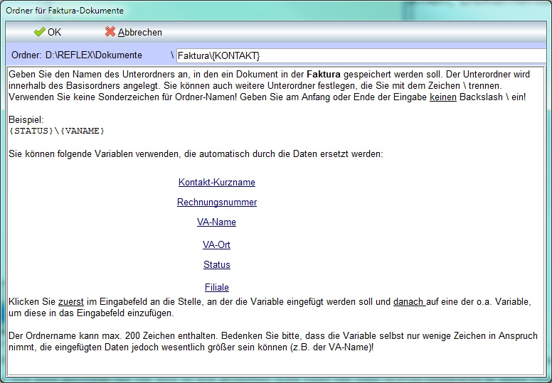 Dateireflex Programmparameter Dokumente Fakturajpg Gevitas