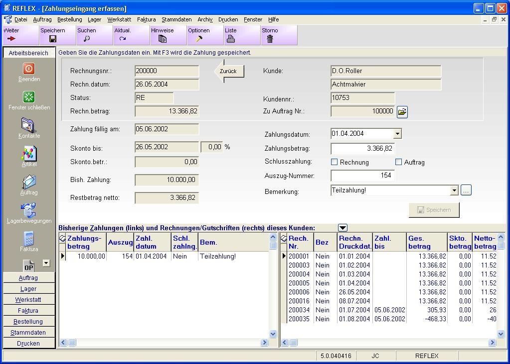 Dateireflex Faktura Zahlungseingang Erfassenjpg Gevitas