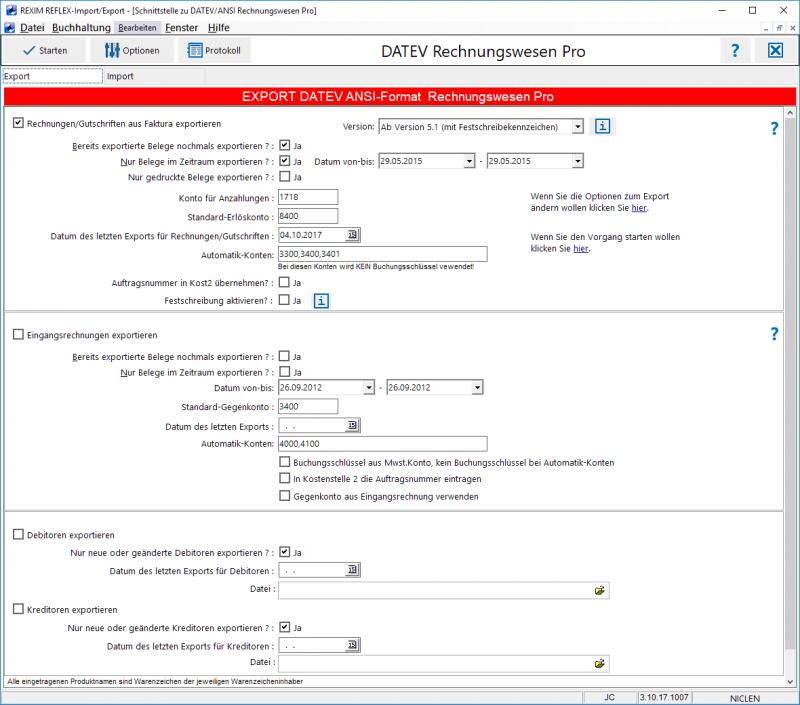 Rexim Mit Datev Ansi Format Für Rechnungswesen Pro 2012 Gevitas